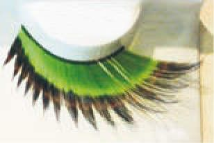 Eye Lash set Fun Green & Black Long Cosmetics Makeup