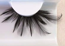 Eyelash Eye Lash set Feather Black