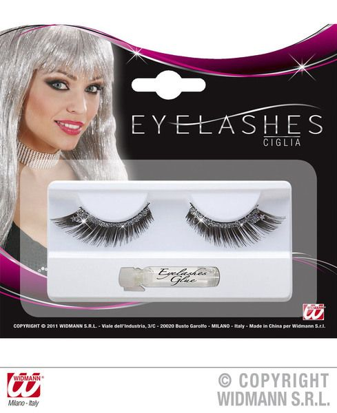 Eyelashes Black With Makeup Beauty Cosmetics