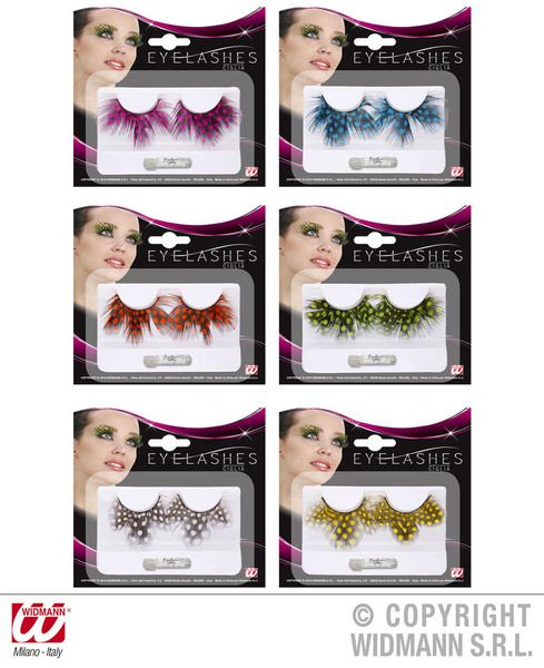 Eyelashes Dotted Feathers 6 Colours Cosmetics