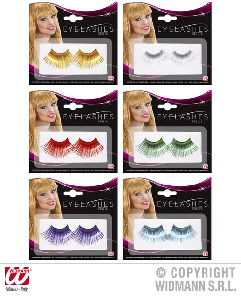 Eyelashes Jumbo Coloured 6 Colours Cosmetics