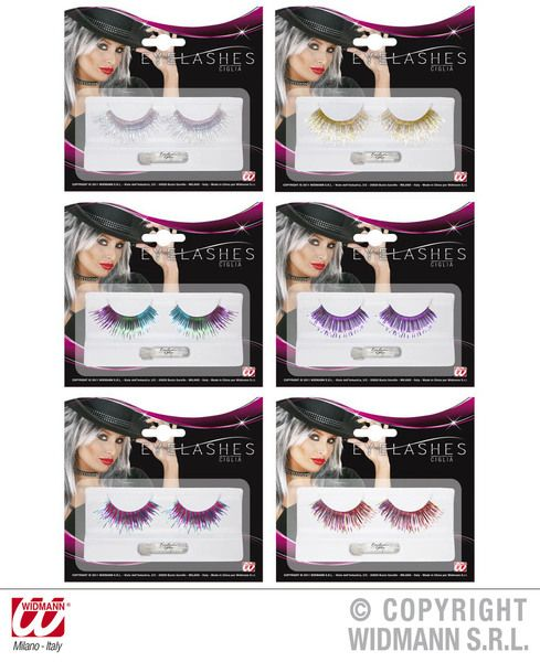 Eyelashes Metallic Long 6 Colours Cosmetics