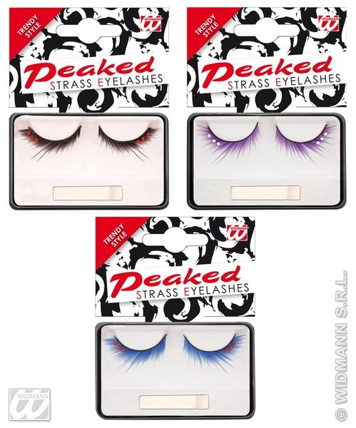 Eyelashes Peaked Strass 3 Colours Cosmetics
