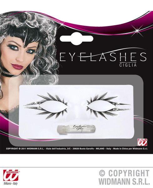 Eyelashes Set Of Upper & Lower W/Strass Cosmetics