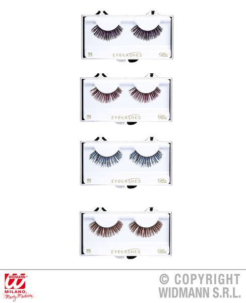 Eyelashes With Tinsel 4 Colours (Glass Glue Bottle) Cosmetics