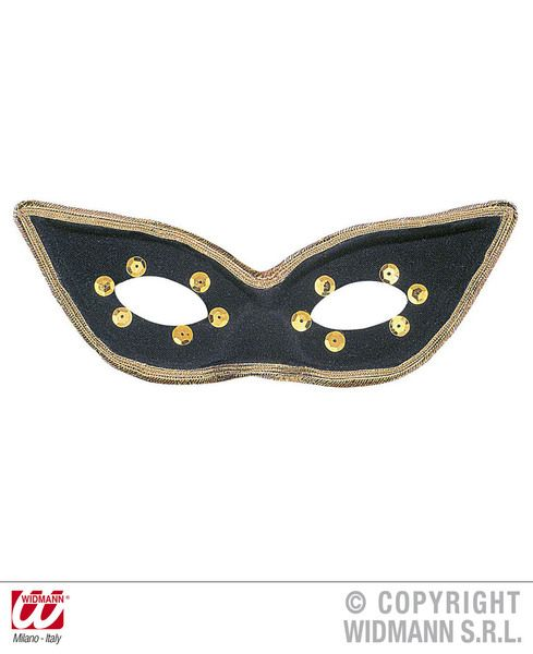 Eyemask Carnival Black Eye-Mask Masquerade Ball Mask Fancy Dress
