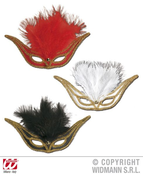 Eyemask Swallow W/Feathers Eye-Mask Masquerade Ball Mask Fancy Dress