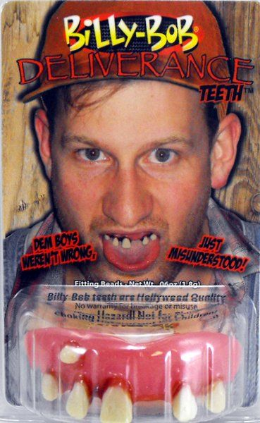 Fake False Teeth Joke Novelty Billy Bob Deliverance Gag Trick Novelty