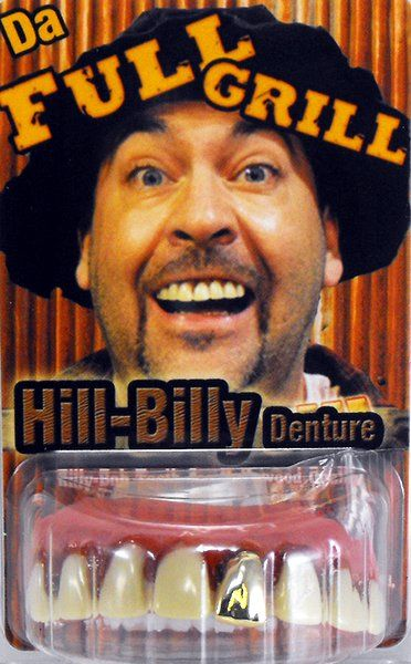 Fake False Teeth Joke Novelty Billy Bob Full Grill Gag Trick Novelty