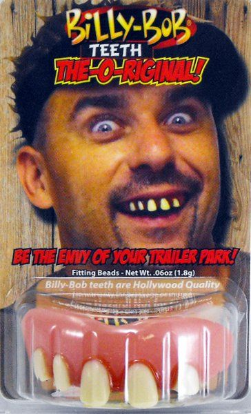 Fake False Teeth Joke Novelty Billy Bob Original Gag Trick Novelty