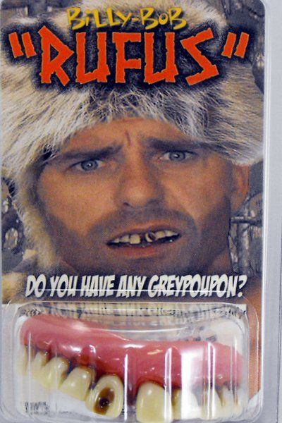 Fake False Teeth Joke Novelty Billy Bob Rufus Gag Trick Novelty