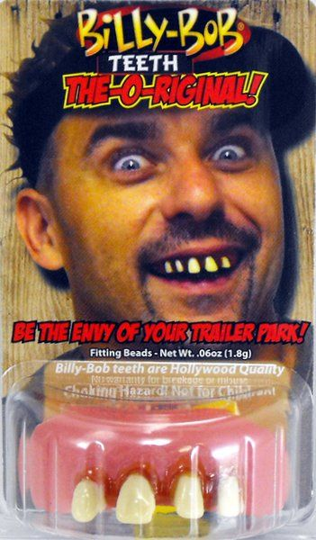 Fake False Teeth Joke Novelty Billy Bob Snaggletooth Gag Trick Novelty