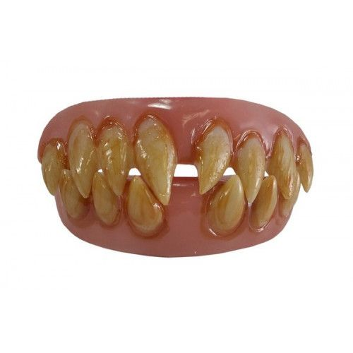 Fake False Teeth Joke Novelty Ghoulish Grin Upper and Lower Gag Trick Novelty