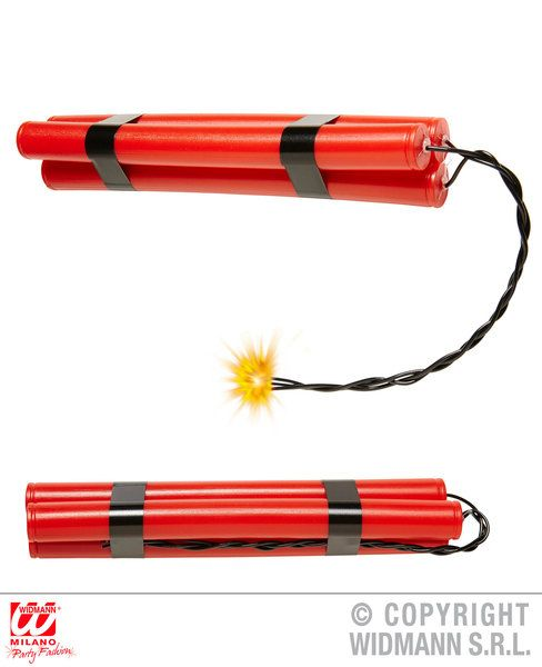 Fake Wild West Dynamite Novelty Gag Trick Novelty Toy Plastic Bomb Explosives