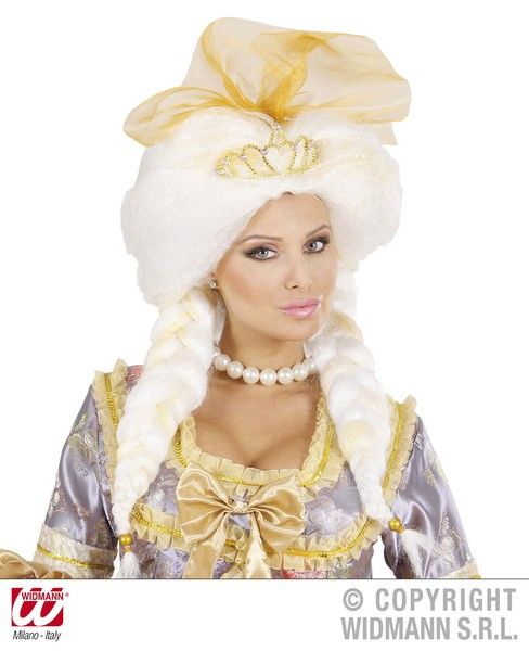 Fantasy Queen Wig In Box White Sexy Erotic Sissy Cosplay Fancy Dress