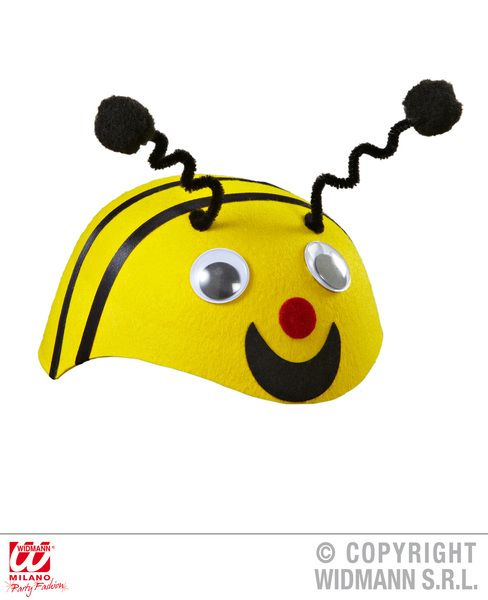 Felt Bee Cap Hat Flying Bug Honey Fancy Dress