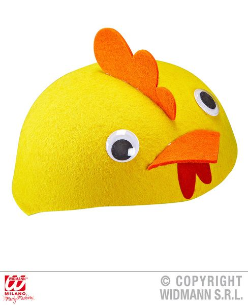 Felt Chicken Cap Hat Farm Animal Rooster Food Fancy Dress