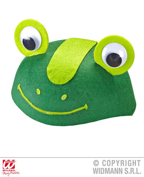 Felt Frog Cap Hat Amphibious Pond Animal Toad Fancy Dress