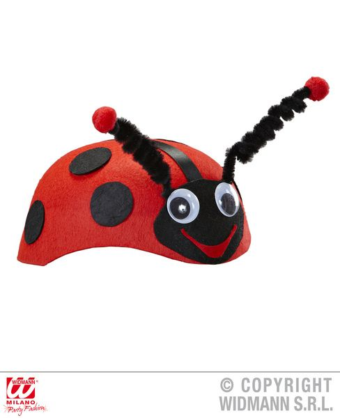 Felt Ladybug Cap Hat Ladybird Insect Bug Animal Creature Fancy Dress