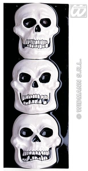 Gid 3D Skull Vertical Decoration Pirate Halloween Skeleton Head Party