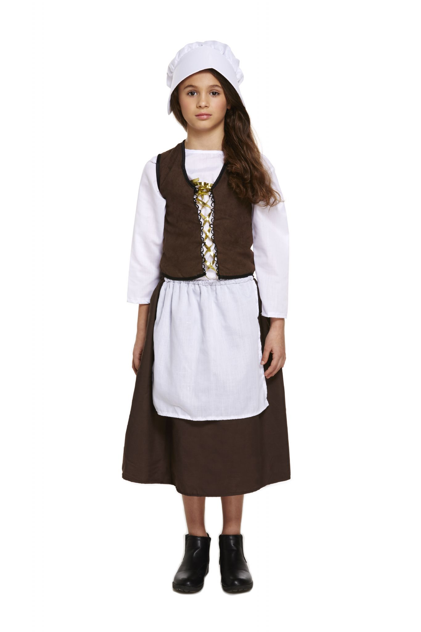 Girls Childrens Victorian Maid Costume for Poor Medieval ...