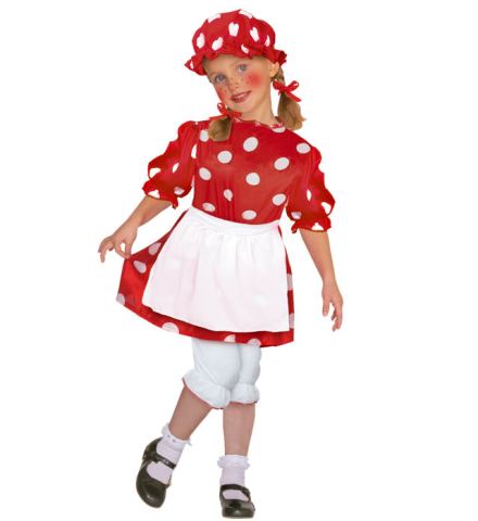 Girls Fairytale Little Rag Doll 140cm Costume Strorybook Fairytale Fancy Dress