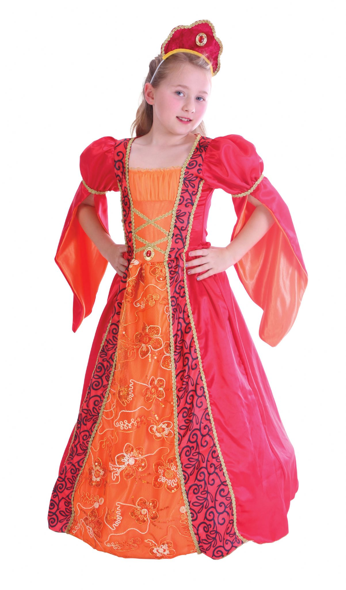 98cb95e05a1 Girls Princess Deluxe Costume Royal Fairytale Beautiful hero Fancy Dress  Outfit