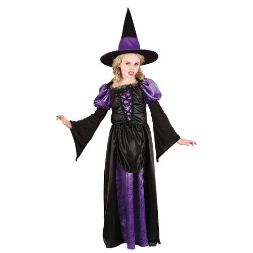 Girls Scary Witch Halloween Costume for Fancy Dress Childrens Kids Childs