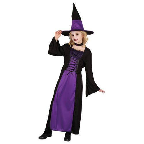 Girls Spellbound Witch Halloween Costume for Fancy Dress Kids Childs
