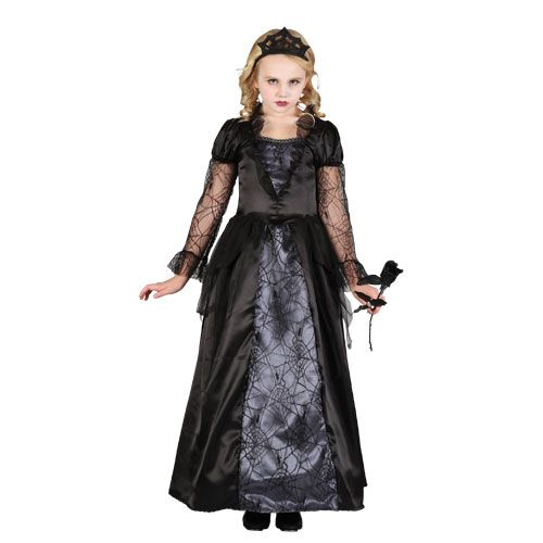 Girls Wicked Queen Halloween Costume for Fancy Dress Childrens Kids Childs