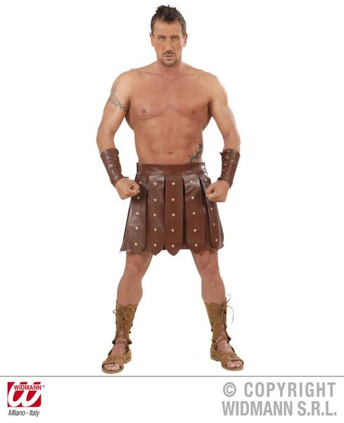 Gladiator Skirt Armbands Slave Roman Sparticus Ancient Fancy Dress