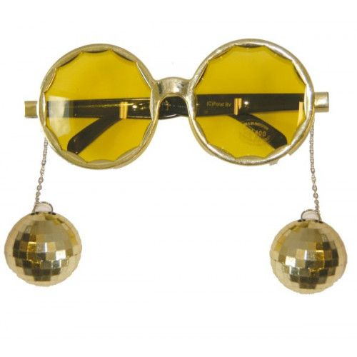 Glasses Party Disco Gold 70s Music Pop Travolta Boogie Nights