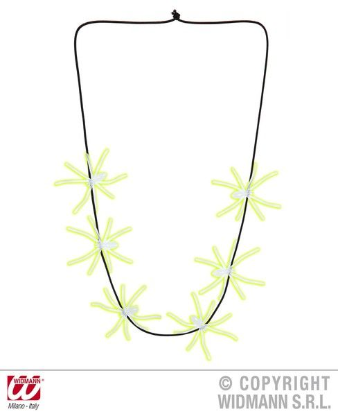 Glow In The Dark Spiders Necklaces 60cm Glow-Party Night Show Cosmetics