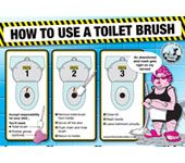 Guide to Using a Toilet Brush Novelty Mens Birthday Christmas Gift
