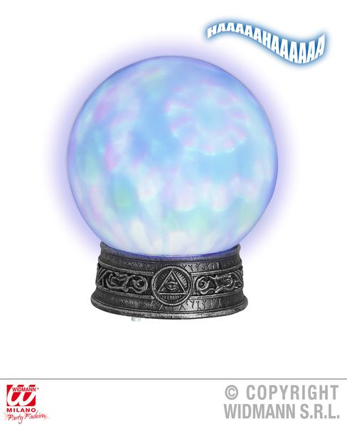 Gypsy Crystal Ball W/Stand Kaleidoscope Lights & Sounds 20cm