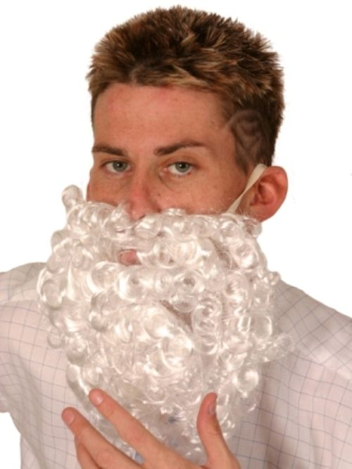 Hair Beard Santa Curly Christmas Festive Seasonal Holidays