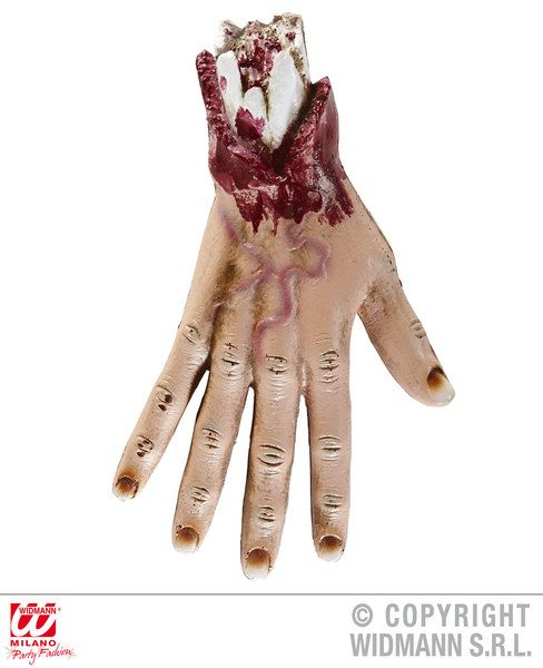 Hand 25 cm Body Part Limb Halloween Zombie Fancy Dress