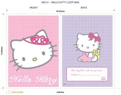 Hello Kitty Party Loot Bags - 8 Pussy Cat Pet Animal Feline