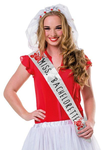 Hen Party Brides Sash Miss Bachelorette Bridal Shower Freedom Party