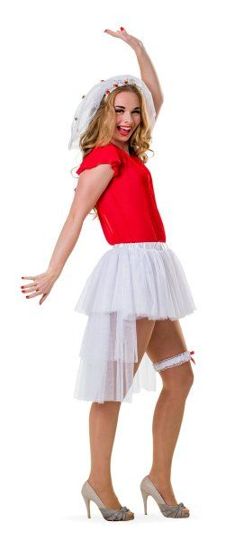 Hen Party Brides Tutu White With Tail Bridal Shower Freedom Party