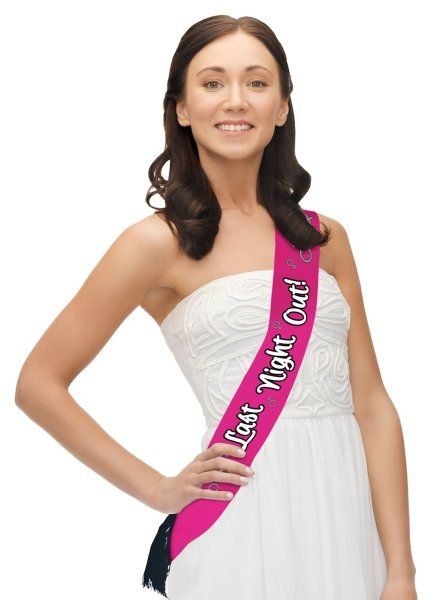 Hen Party Sash Pink Polyester Bridal Shower Freedom Party