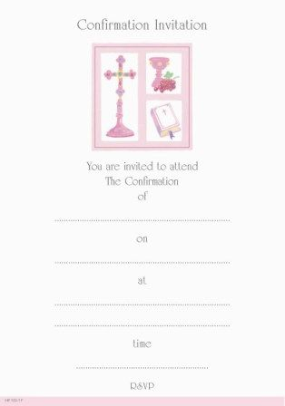 Invitation Confirmation - 20 Sheets