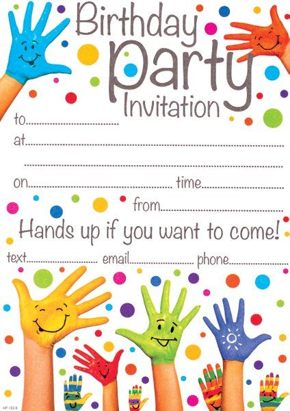 Invitation Party 20 Sheets with Envelope 103