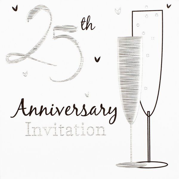 Invitation Wedding Anniversary Silver 6p Wedding Celebration