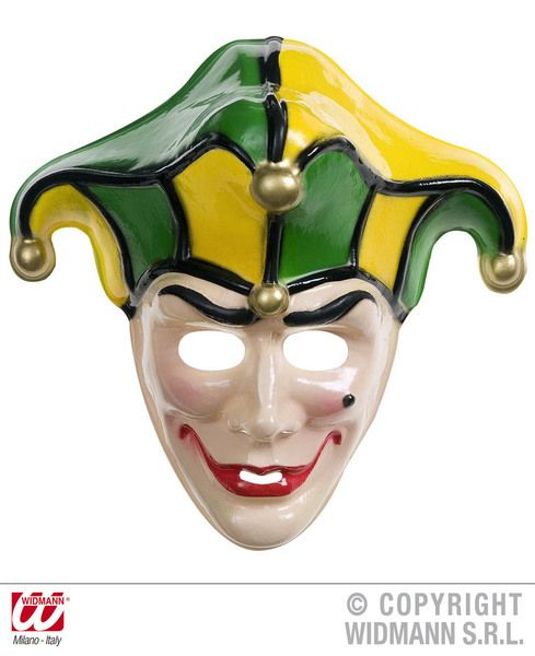 Jolly Joker Mask Batman Clown Villian Fancy Dress