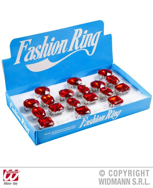 Jumbo Ring Red Deluxe 1Of3 Styles Elvis Pimp Royal King Queen Cosplay Accessory