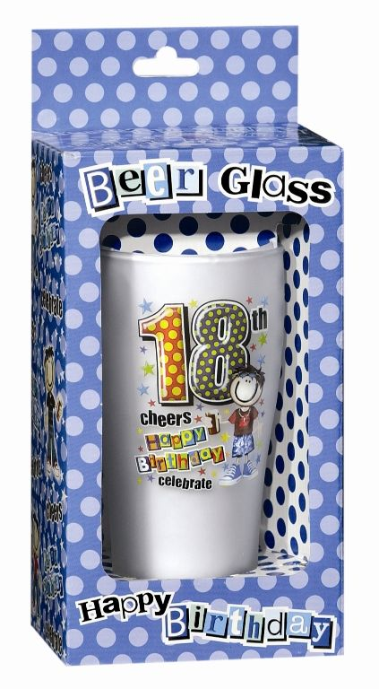 Keepsake Glass Beer for 18TH Birthday 18th Bar Booze Alcohol Drink