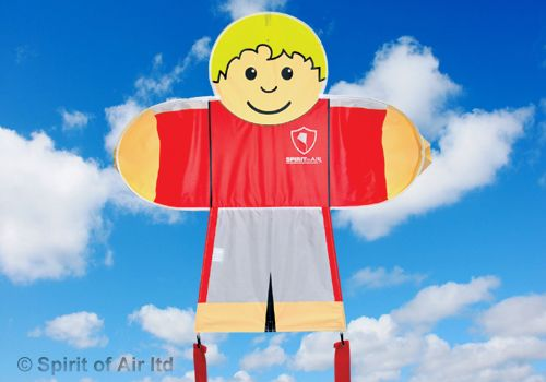 Kids Fly Guys Red Soccer Footballer Boys Kite for Childrens Outdoor Camping Sports Games & Gifts