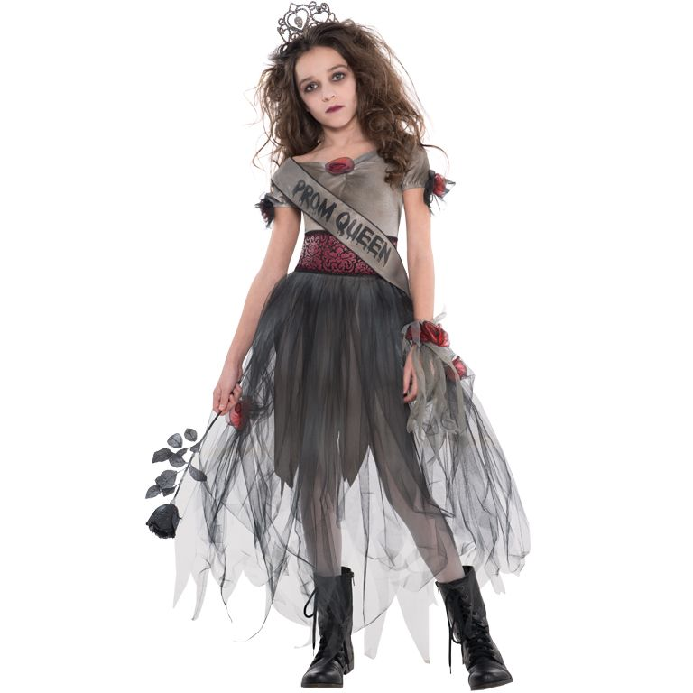 Halloween Costumes For Kids Girls Zombie.Kids Teens Prombie Queen Costume Girls Halloween Fancy Dress Outfit