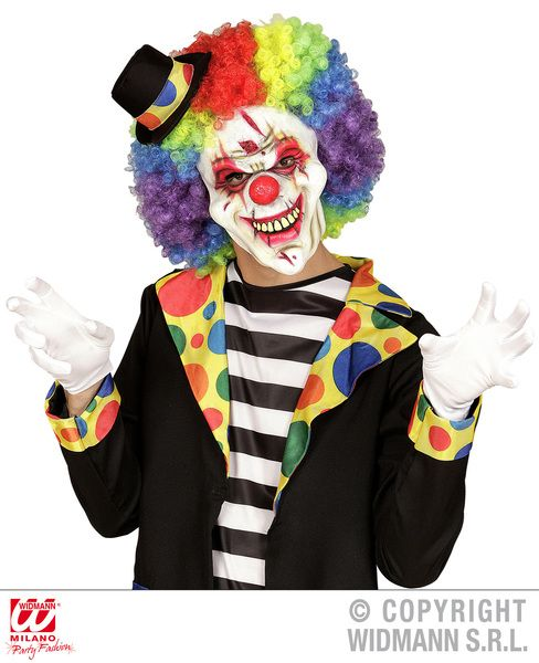 Killer Clown Face Mask Murderer Halloween Fancy Dress